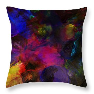 Abstract 042711a Throw Pillow by David Lane