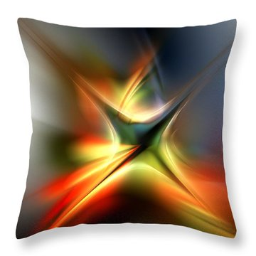 Abstract 060310a Throw Pillow by David Lane