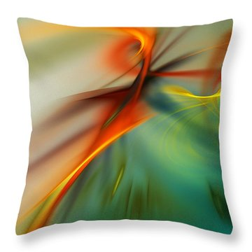 Abstract 110910b Throw Pillow by David Lane
