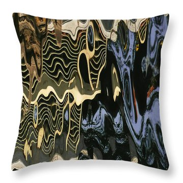 Abstract 13 Throw Pillow by Xueling Zou