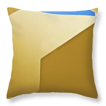 Abstract Architecture In Yellow Throw Pillow by Meirion Matthias