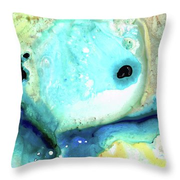 Abstract Art - Holding On - Sharon Cummings Throw Pillow by Sharon Cummings