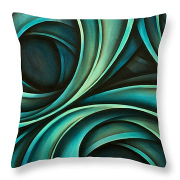 Abstract Design 33 Throw Pillow by Michael Lang