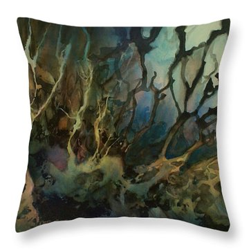 Abstract Design 49 Throw Pillow by Michael Lang