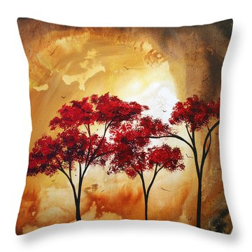 Abstract Landscape Painting Empty Nest 2 By Madart Throw Pillow by Megan Duncanson