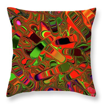 Abstract Rainbow Slider Explosion Throw Pillow by Andee Design