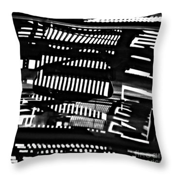 Abstract Reflection 4 Throw Pillow by Sarah Loft