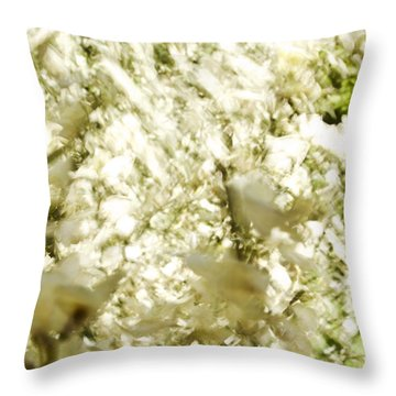 Abstract White Throw Pillow by Ray Laskowitz - Printscapes