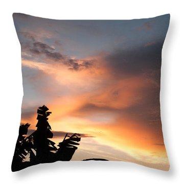 Abuja Sunset Throw Pillow by Hakon Soreide