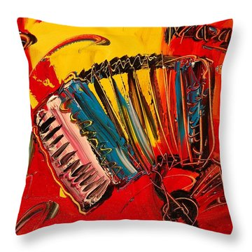 Accordeon Throw Pillow by Mark Kazav