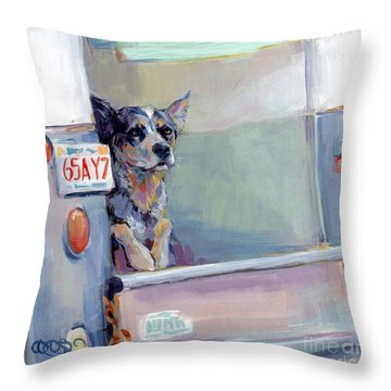 Acd Delivery Boy Throw Pillow by Kimberly Santini
