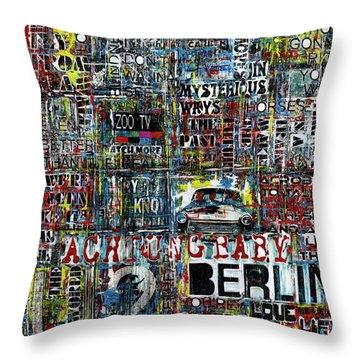 Achtung Baby Throw Pillow by Frank Van Meurs