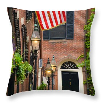 Acorn Street Throw Pillow by Caroline Stella