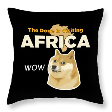 Africa Doge Throw Pillow by Michael Jordan