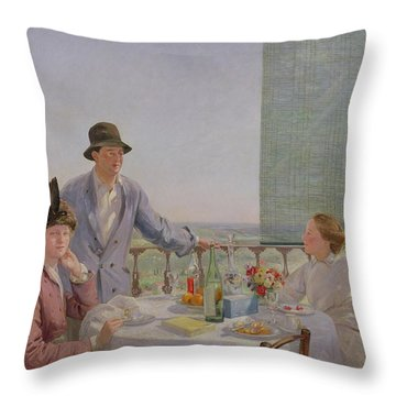 After Lunch Throw Pillow by Gerard Chowne