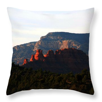 After Sunset In Sedona Throw Pillow by Susanne Van Hulst