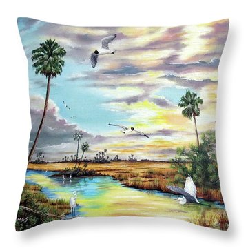 After The Storm Throw Pillow by Riley Geddings