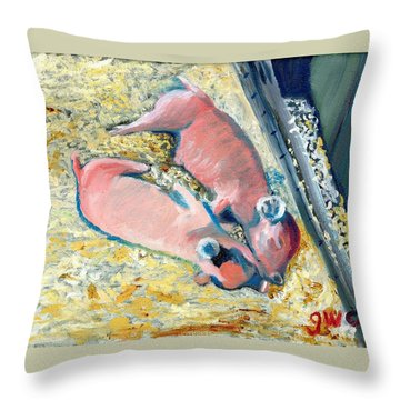 Afternoon Snooze Throw Pillow by Gloria Condon