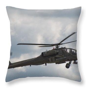 Ah-64 Apache Throw Pillow by Sebastian Musial
