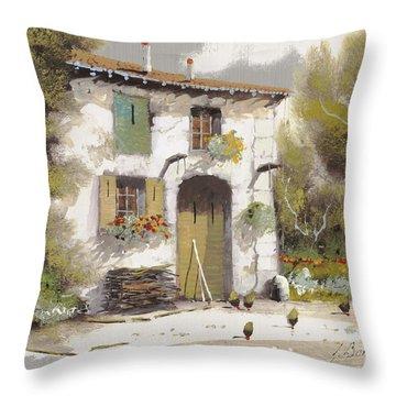 AIA Throw Pillow by Guido Borelli