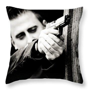 Aim Throw Pillow by Gabriela Insuratelu