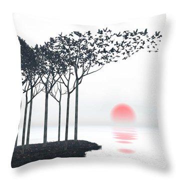 Aki Throw Pillow by Cynthia Decker