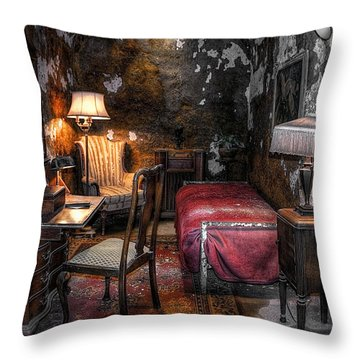 Al Capone Cell Throw Pillow by Svetlana Sewell