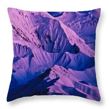Alaska Range Twilight Throw Pillow by Tim Rayburn