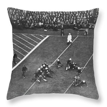 Albie Booth Kick Beats Harvard Throw Pillow by Underwood Archives