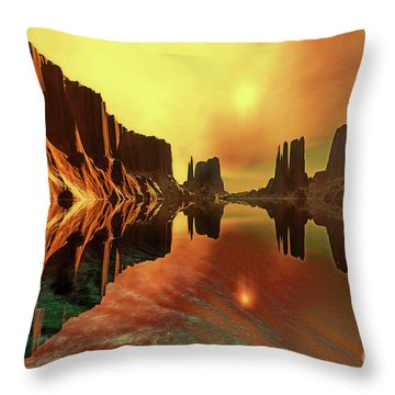 Alchemy Throw Pillow by Corey Ford