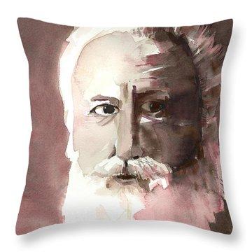 Alexander Graham Bell Throw Pillow by Arline Wagner
