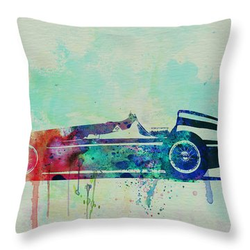 Alfa Romeo Tipo Watercolor Throw Pillow by Naxart Studio