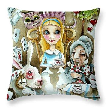 Alice In Wonderland 1 Throw Pillow by Lucia Stewart