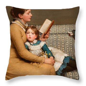 Alice In Wonderland Throw Pillow by George Dunlop Leslie