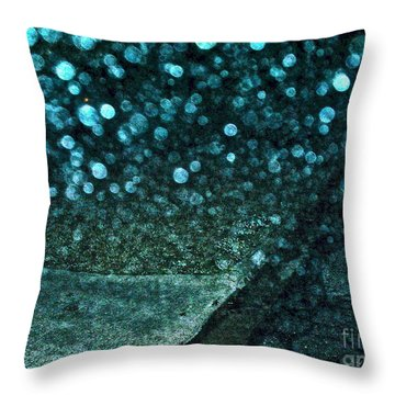 Alien Bubble Invasion Throw Pillow by Chuck Taylor