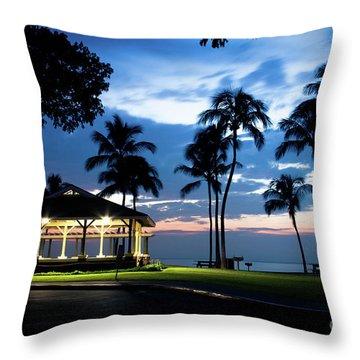 Alii Kahekili Nui Ahumanu Beach Park Hanakaoo Kaanapali Maui Hawaii Throw Pillow by Sharon Mau