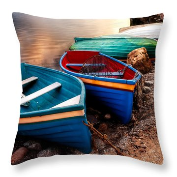 All Ashore Throw Pillow by Christopher Holmes