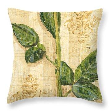 Allie's Rose Sonata 2 Throw Pillow by Debbie DeWitt