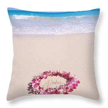 Aloha Throw Pillow by Mary Van de Ven - Printscapes