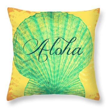 Aloha Shell Throw Pillow by Brandi Fitzgerald