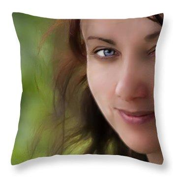 Always On My Mind Throw Pillow by Evelina Kremsdorf