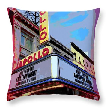 Amateur Night At The Apollo Throw Pillow by Ed Weidman