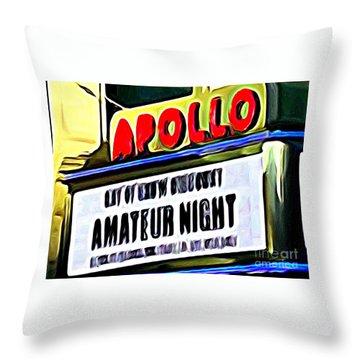 Amateur Night Throw Pillow by Ed Weidman
