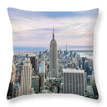 Amazing Manhattan Throw Pillow by Az Jackson