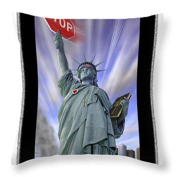 America On Alert II Throw Pillow by Mike McGlothlen