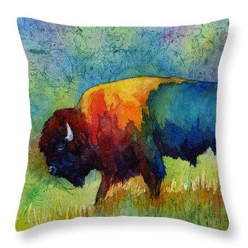 American Buffalo IIi Throw Pillow by Hailey E Herrera
