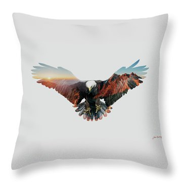 American Eagle Throw Pillow by John Beckley