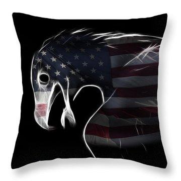 American Eagle Throw Pillow by Melanie Viola