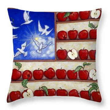 American Fantasy Throw Pillow by Linda Mears