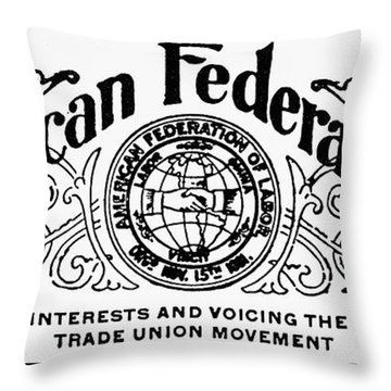American Federationist Throw Pillow by Granger